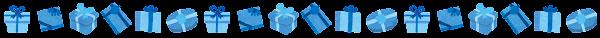 プレゼント箱のライン素材