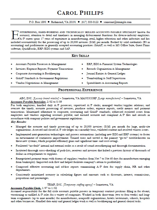 accounts receivable resume format payable clerk examples 2013 medical