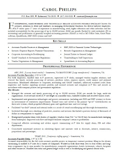 free resume samples and business cards templates  accounts payable    accounts payable specialist resume