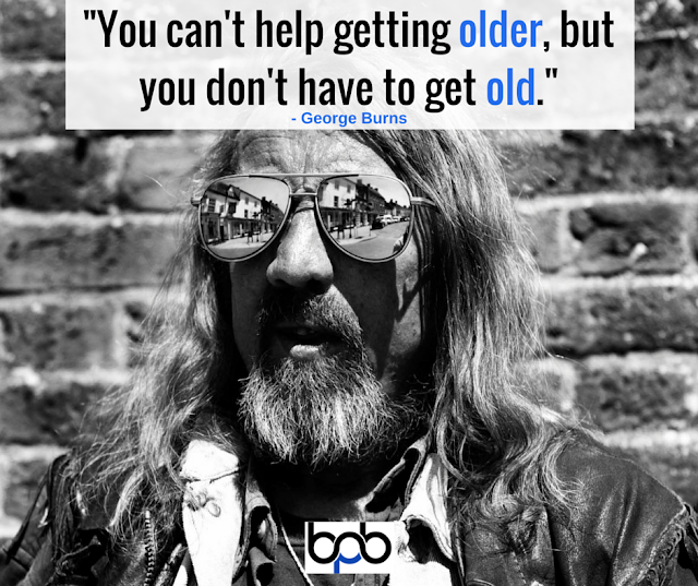 George Burns Quote Graphic
