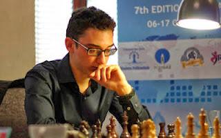 Ruslan Ponomariov (2756) 0-1 Fabiano Caruana (2779)  © Chessbase