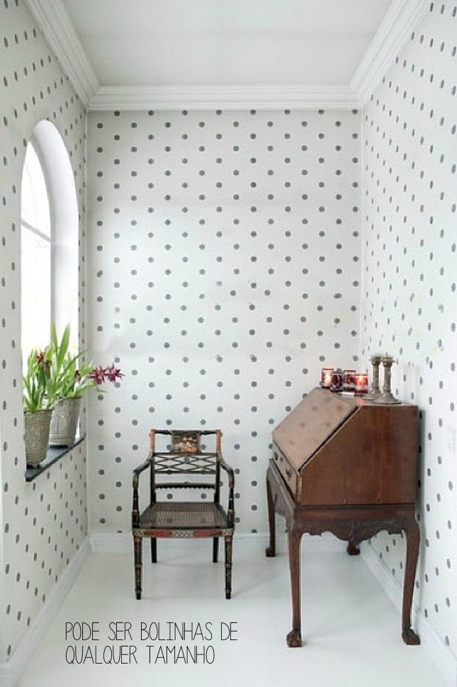 decorar com bolinhas- poás-papel de parede