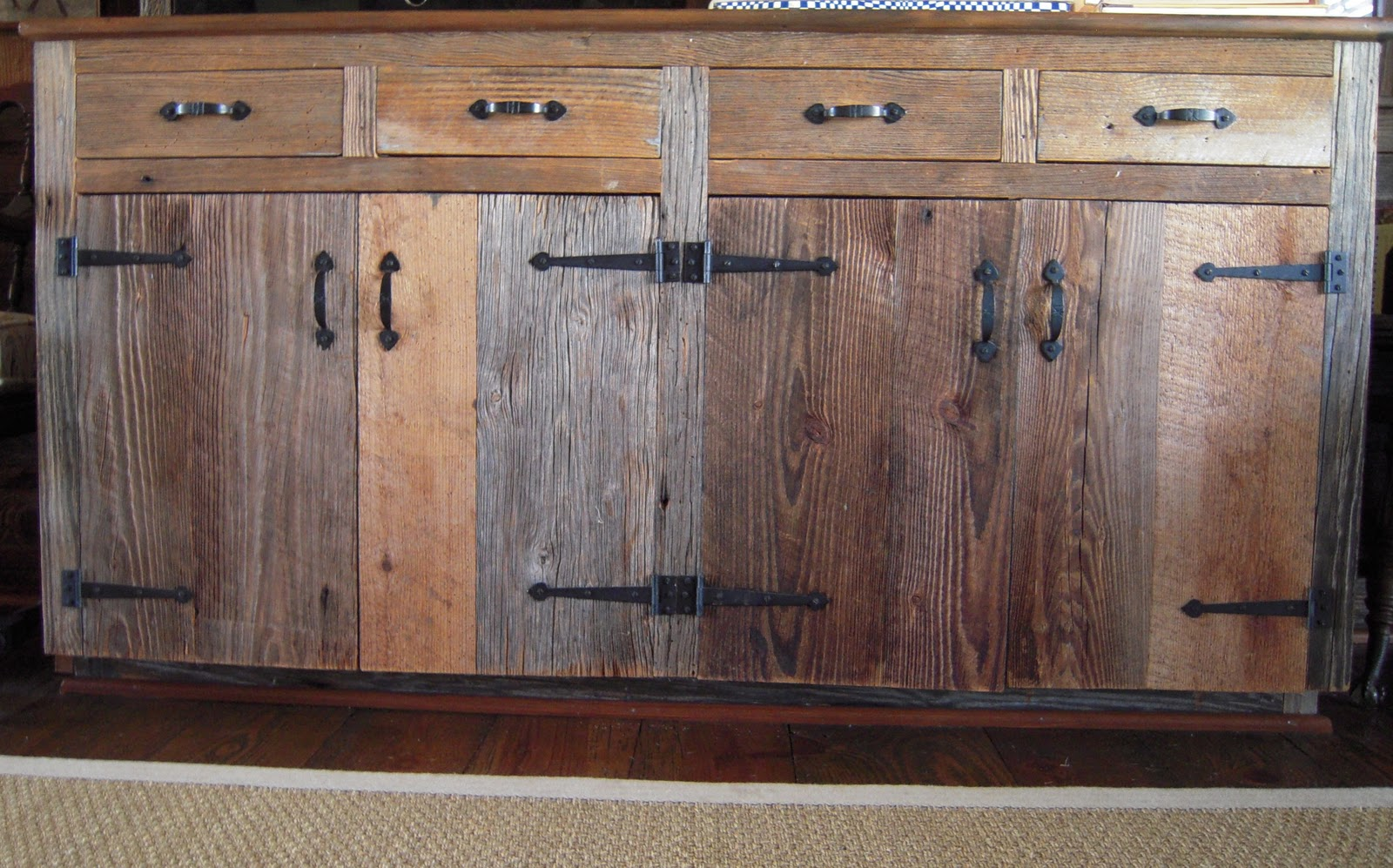 Reclaimed Wood Cabinets ~ Light color design reclaimed wood
