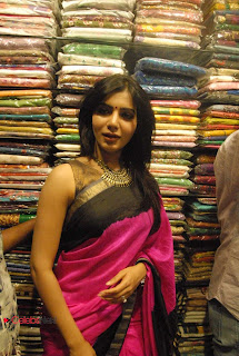 Samantha Pictures in Saree at Rao Nagar Anutex Launch ~ Celebs Next