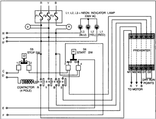 dol starter with timer automatic induction motor starter with programmable timer ... l t dol starter circuit diagram