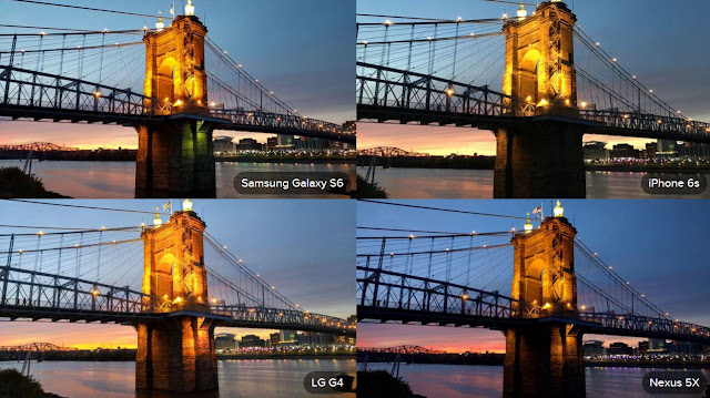 Galaxy S6 Camera, LG G4 Camera, iPhone 6S Camera Twilight
