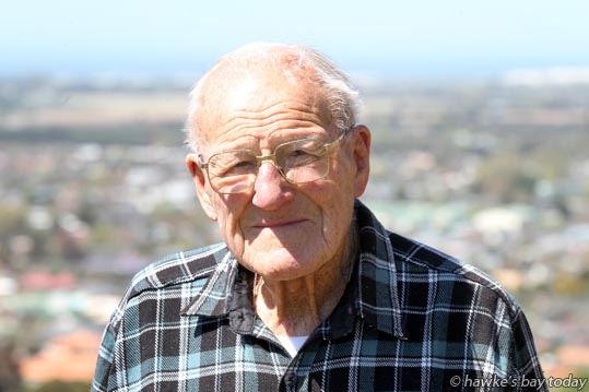 Trevor Page, 96, Napier, still walks up Tironui Drive and over The Sugarloaf, Taradale, Napier, five times a week. photograph