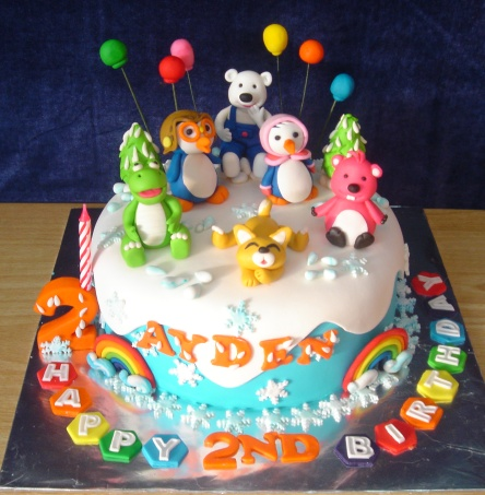 Yochana 39 s cake delight pororo cake for ayden for Anpanman cake decoration