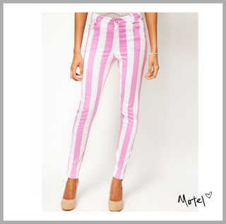 Candy stripe jeans from motel