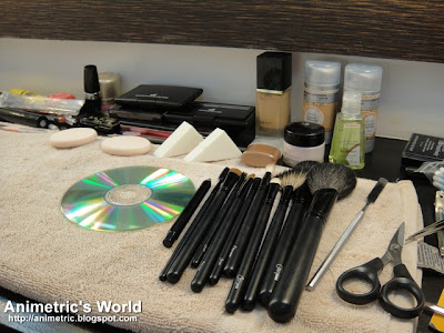 My station at HD Makeup Studio & Academy