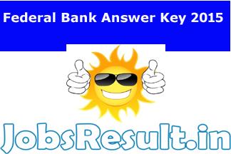 Federal Bank Answer Key 2015