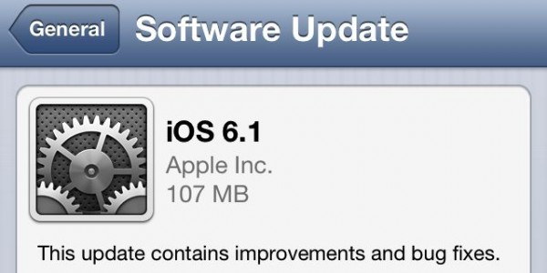 Apple has released iOS 6.1 begin 2013 - more on iAppsclub.com