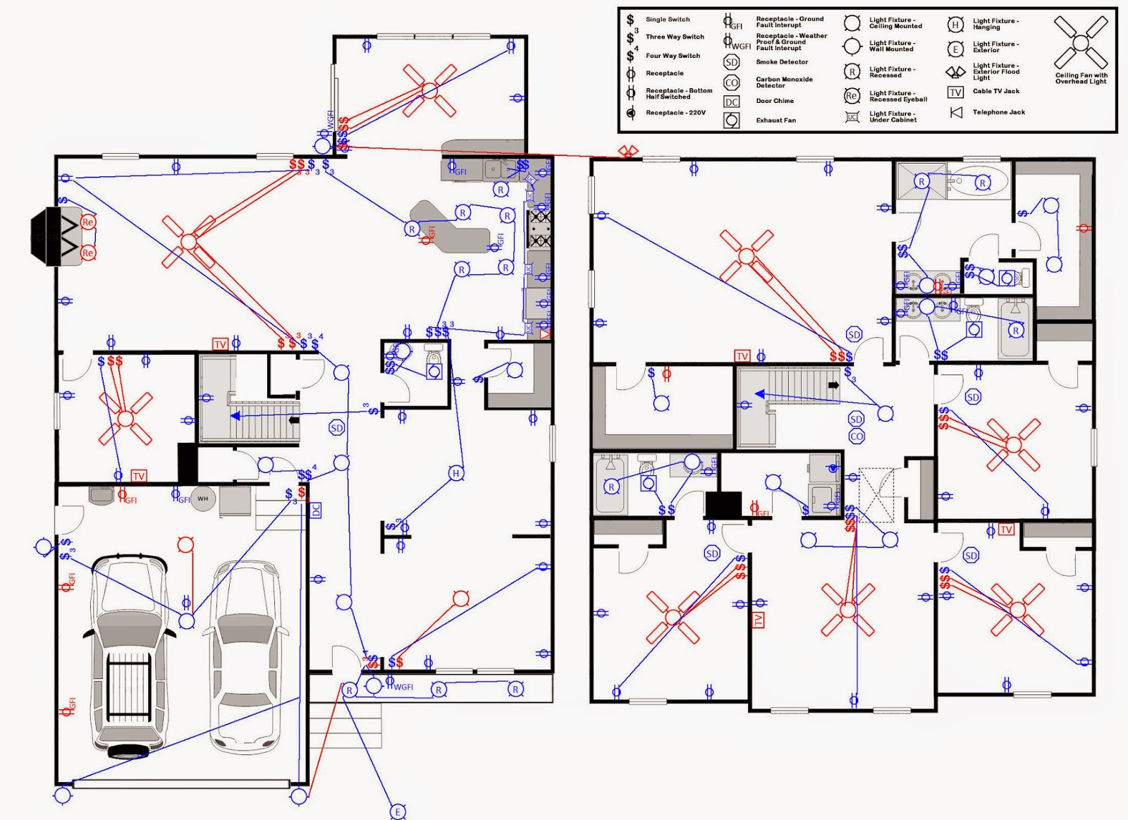 Honey Im Rome Electrical And Lighting Home Wiring Plans Floor We Love Ceiling Fans