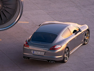 2012 Porsche Panamera Turbo S Rear Angle View