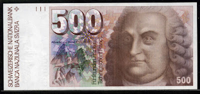 foreign money currency Switzerland imsges 500 Swiss Francs banknote
