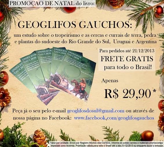 CLIQUE AQUI para pedir o seu livro GEOGLIFOS GAÚCHOS com frete grátis pra todo o Brasil*!