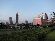 Sunset on the Atlanta skyline
