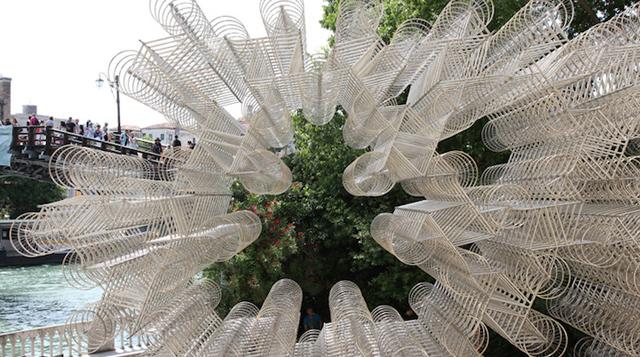 Imponente instalación en Venecia Bicicletas por Siempre de Ai Weiwei