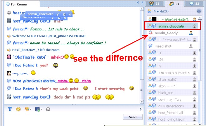 Show in chat list block