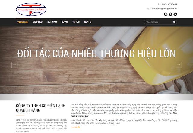Thiết kế website công ty, thiết kế website bằng wordpress