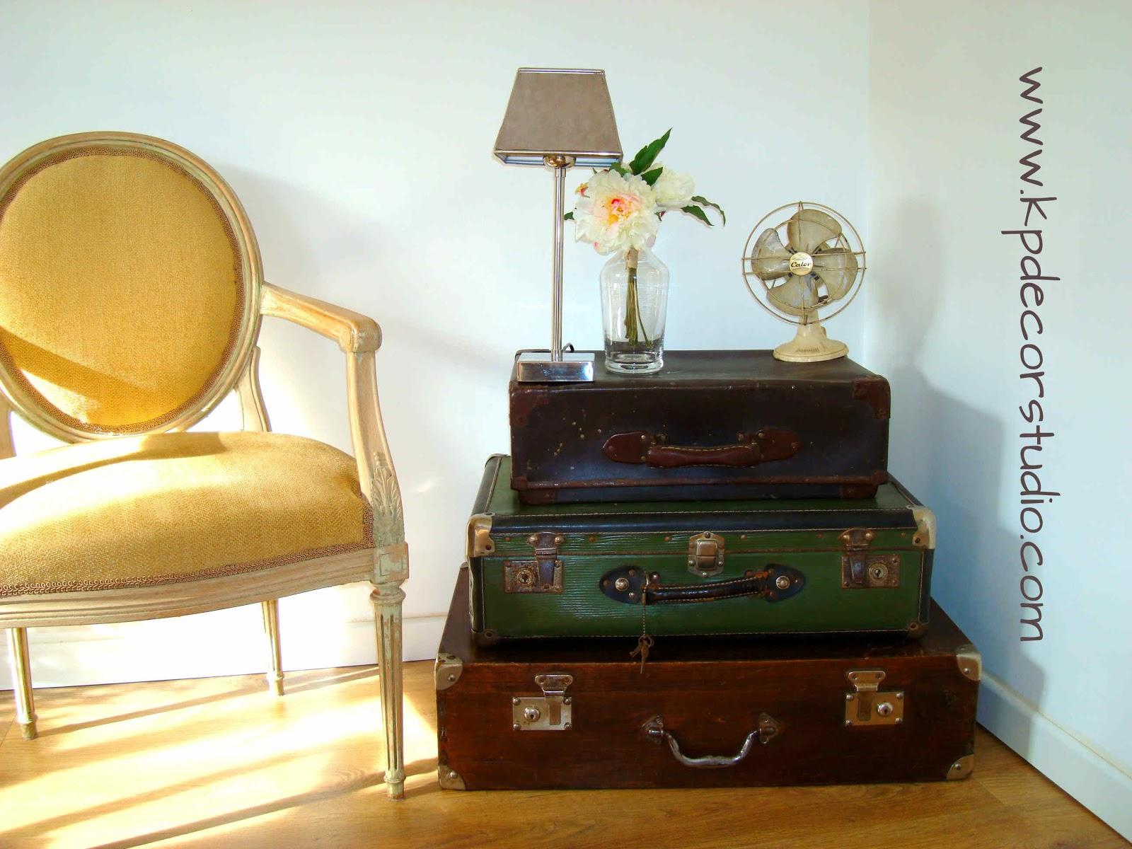 Tienda Decoracion Vintage Barata ~ Decorar con maletas antiguas  How to decorate with old suitcases and