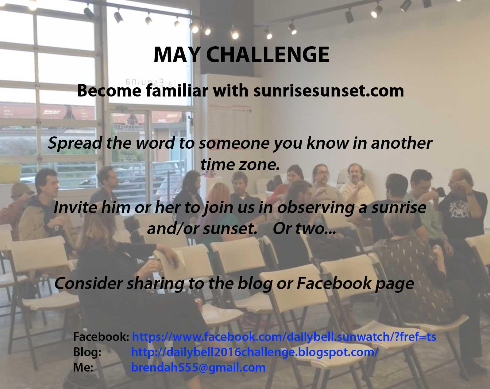 MAY Challenge 2016