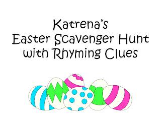 Easter Scavenger Hunt Clues