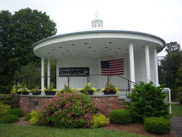 Photo of bandstand at West Brookfield MA Town Common