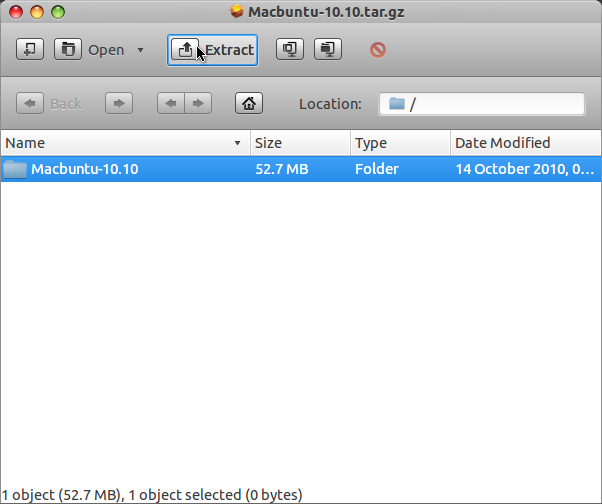 Install MacBuntu di Ubuntu 12.04 LTS - Extract Package