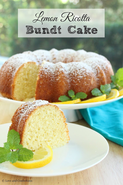 Lemon Ricotta Bundt Cake from LoveandConfections.com