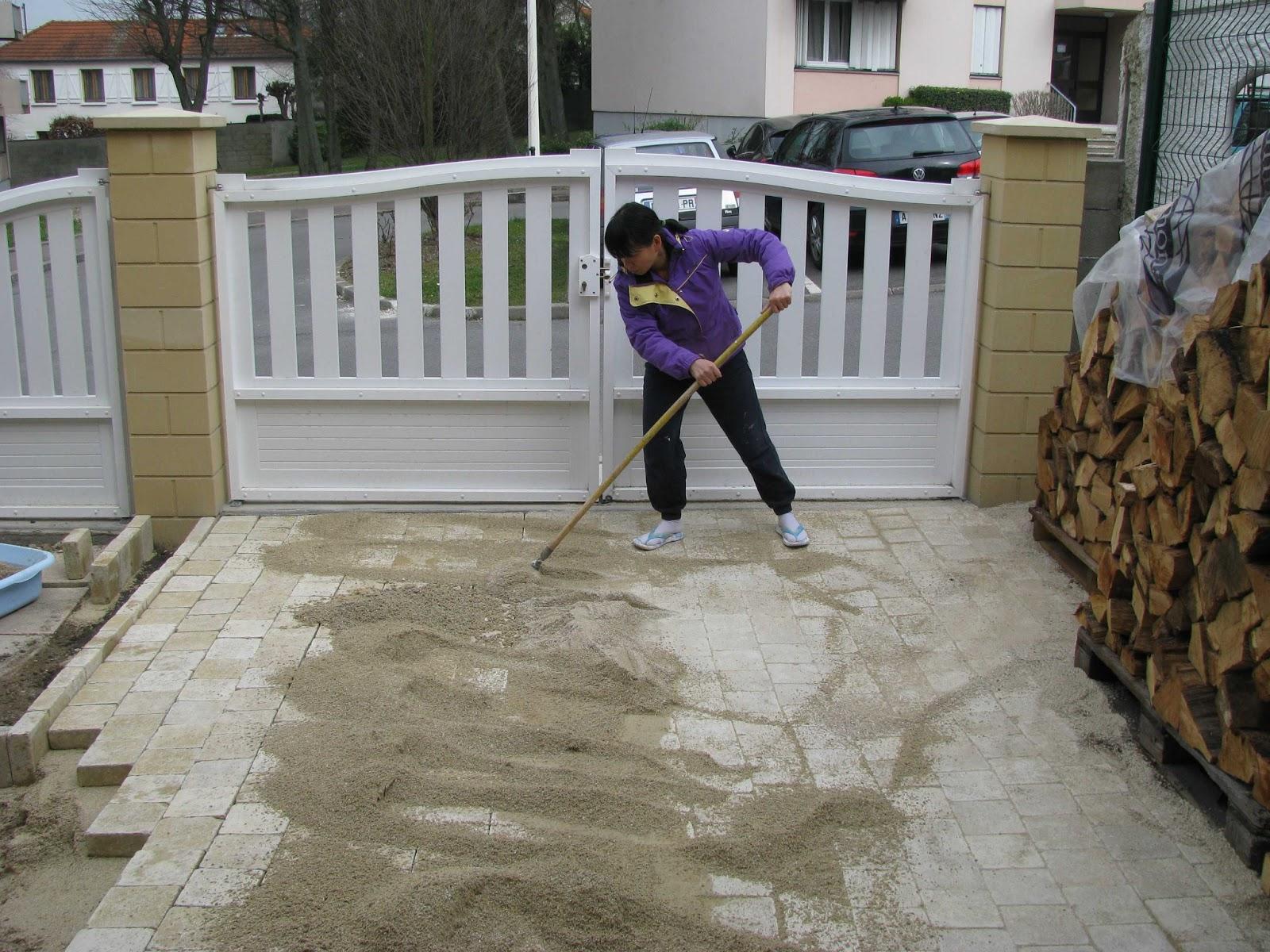 Je fais construire ma maison mars 2013 - Pose de pave sur mortier sec ...