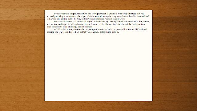 FocusWriter, un OmmWriter like pour Ubuntu (ainsi que Mac & Windows), A Unix Mind In A Windows World