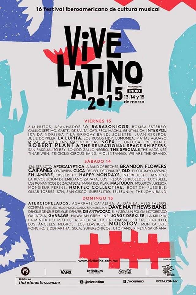 Programa cartel Vive Latino 2015
