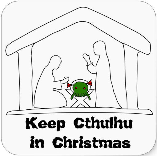http://www.zazzle.com/keep_cthulhu_in_christmas_stickers-217752918014304287