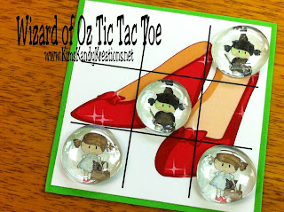 wizard of oz tic tac toe printable game by kims kandy kreations
