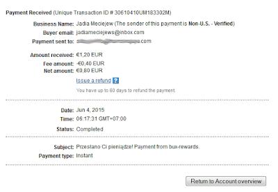 Bukti Pembayaran Dari PTC Bux-rewards.Com 2015