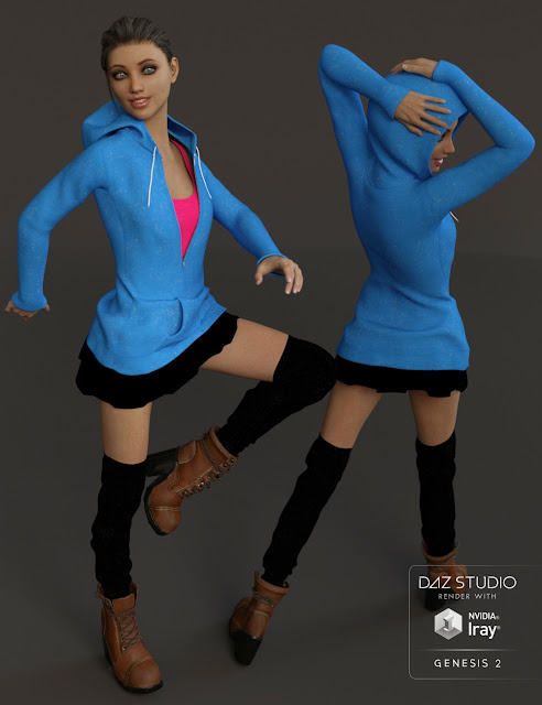Rebellious Teen Outfit for Genesis 3 Female