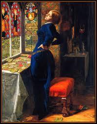the Pre-Raphaelites - Mariana by Millais