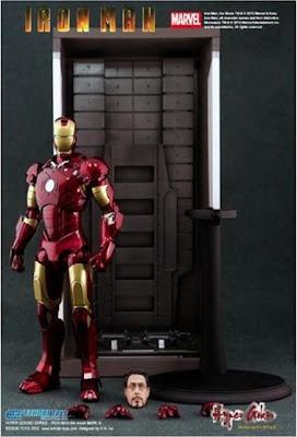 "Exhobi Toys Hyper Gokin Iron Man Mk III Diecast 6"" Figure v2"