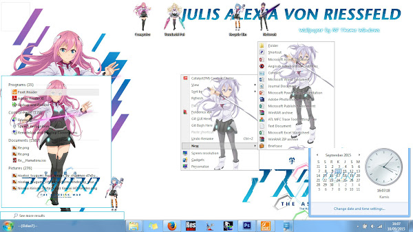 [Theme Win 7] Gakusen Toshi Asterisk by Eldiaz7 5