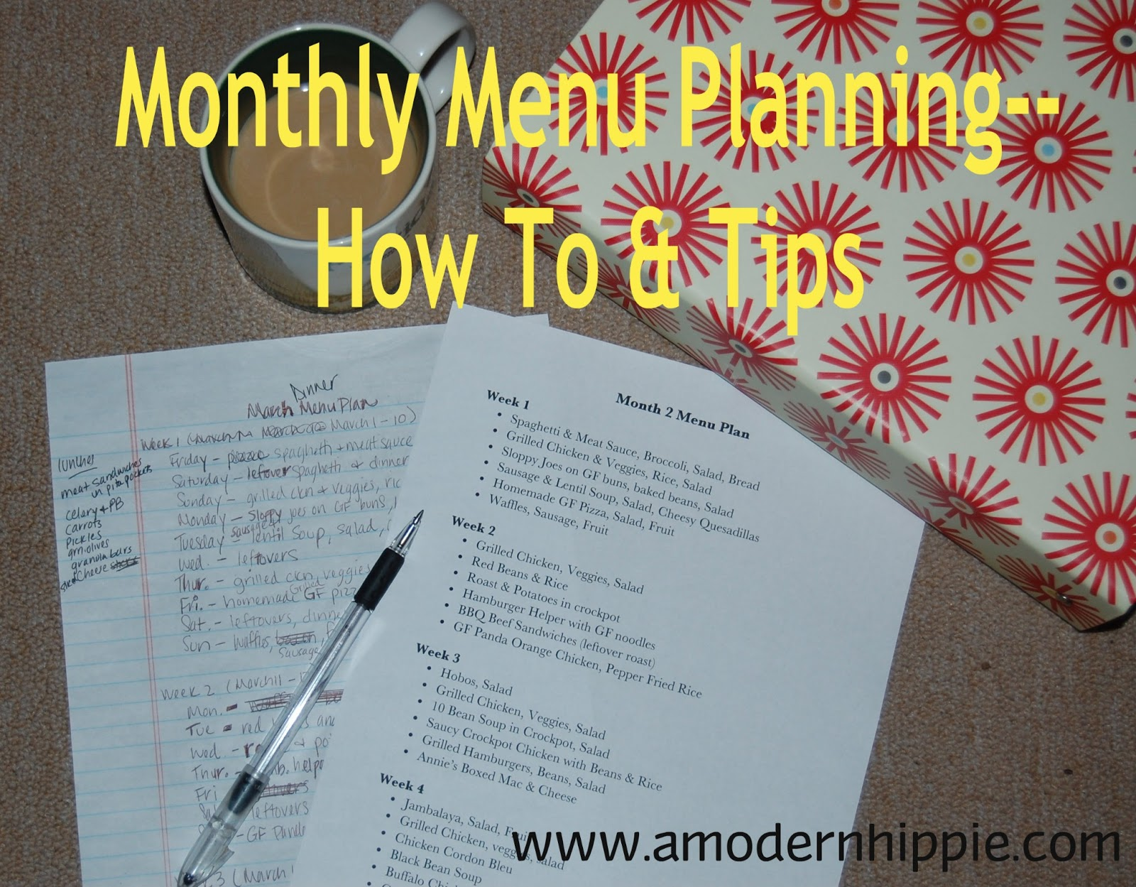 A Modern Hippie: Monthly Meal Planning How-To & Tips (Incl. Week 1 ...