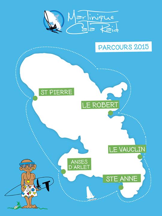Parcours du Martinique Cata Raid 2015