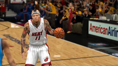 NBA 2K13 Chris Andersen Hair and Tattoos Update