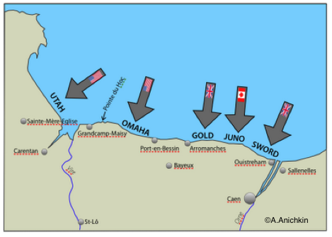 d day invasion map  Day 1944. Making Maps in