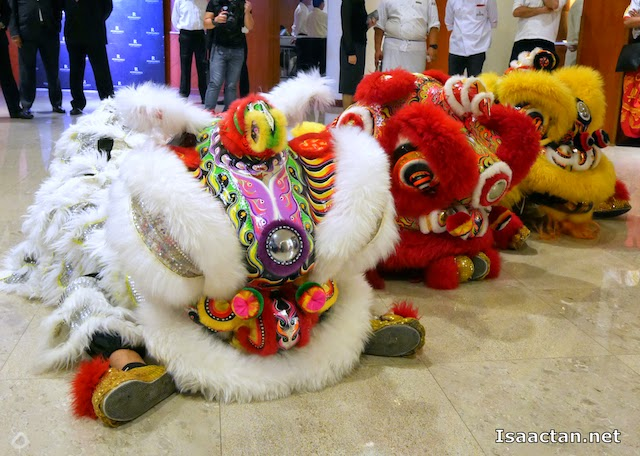 We were entertained by the customary lion dance performance