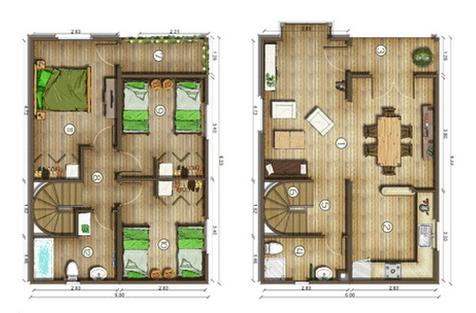 Diseños de Casas, Planos Gratis: Planos de Casas Gratis 101 m2