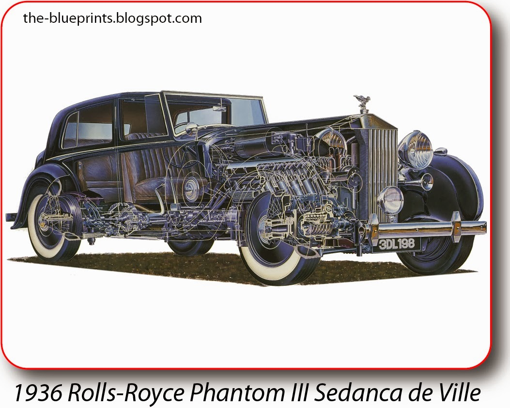 Vector blueprints cars trucks busses and others rolls royce illustrations malvernweather Gallery
