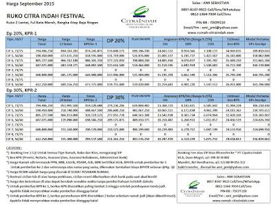 harga-ruko-citra-indah-festival-september-2015