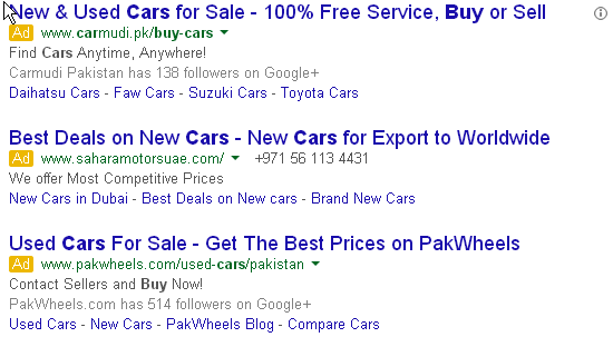Keywords from google ads