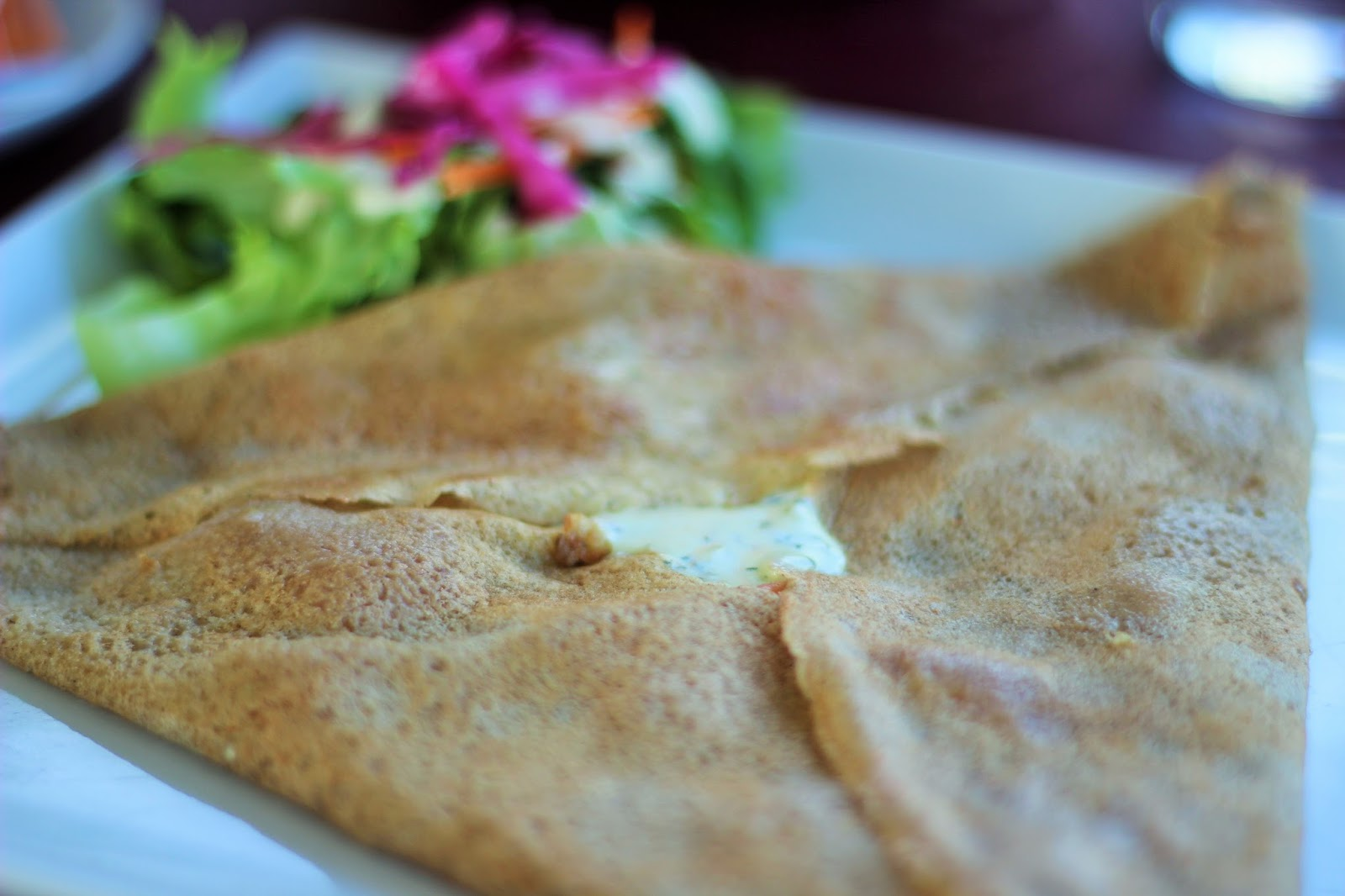 Salmon and Dill Crêpe at the Paradise View Crêperie in Sint Maarten